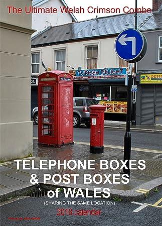 Teléfono cajas y cajas de Post. De Gales 2018 calendario de pared: Amazon.es: Oficina y papelería