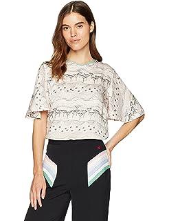 f40874f54b Dear Drew by Drew Barrymore Women s Joshua Tree Silky Short Sleeve Blouse