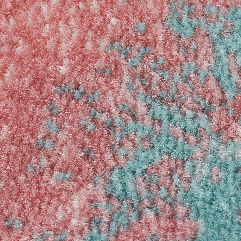 Carpet city city city Teppich Flachflor Inspiration mit Geometrischen Muster, Marokkanischer Stil, Meliert, in Pastellfarben, Blau, Rosa, Creme, Beige für Wohnzimmer, Größe  200x290 cm B01M8PJMPG Lufer a18878