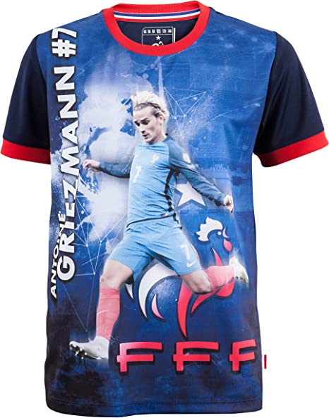 Excellente qualité nouveau authentique vente professionnelle Equipe de FRANCE de football Maillot FFF - Antoine Griezmann - Collection  Officielle Taille Enfant