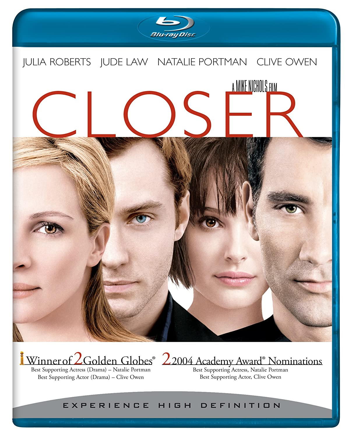 Amazon.com: Closer [Blu-ray]: Natalie Portman, Jude Law, Clive Owen, Julia  Roberts, Nick Hobbs, Colin Stinton, Steve Benham, Elizabeth Bower, Ray  Donn, Daniel Dresner, Rrenford Junior Fagan, Antony Gabriel, Mike Nichols,  Cary Brokaw,