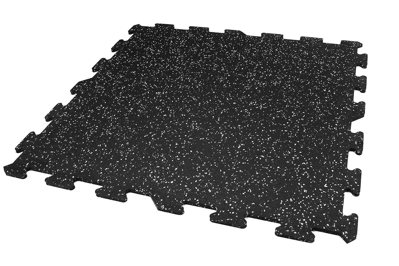 魅力の Incstores 8mm 強力ゴムタイル(23インチX 23インチ (4 23インチ タイル/マルチピース床キット)インターロッキングゴムジムマット ホームジムフローリング用 9