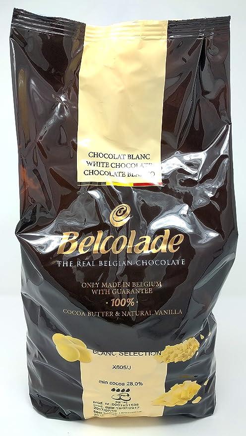 Belcolade 28% pepitas de Chocolate Blanco 5kg: Amazon.es: Alimentación y bebidas