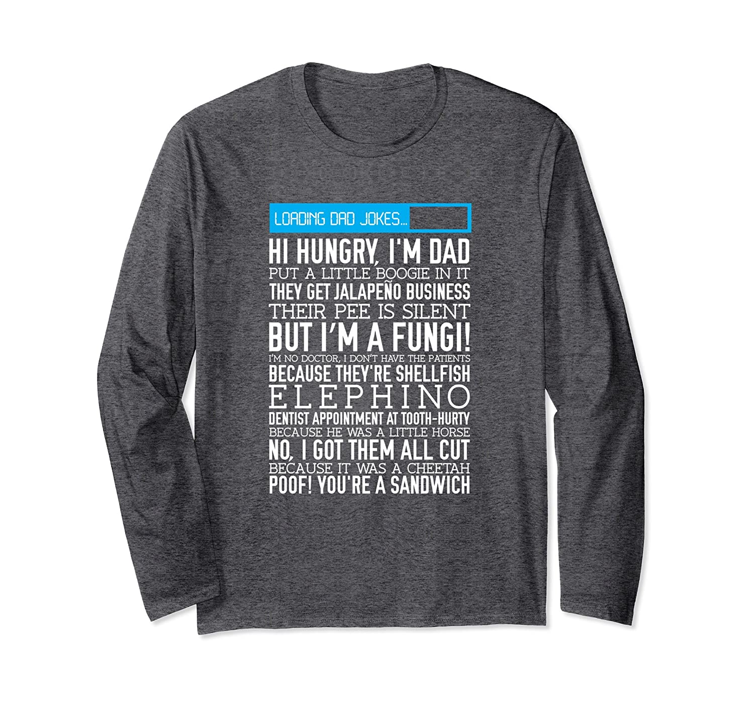 99c7ab8b8 Funny Dad Jokes Long Sleeve Tee Shirt, Father's Day Pun Gift- TPT ...