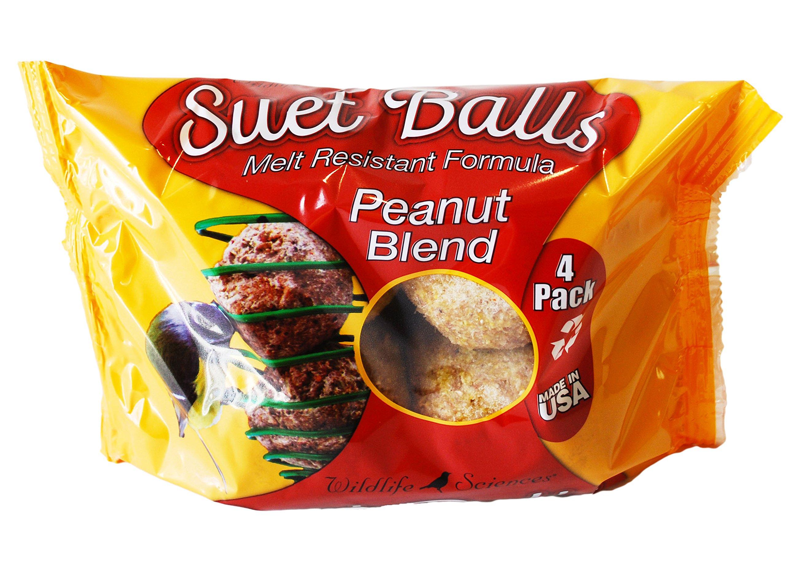 Peanut Blend Suet Balls 4 Pack, Case of 6