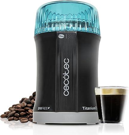 Cecotec Molinillo de Café y Especias TitanMill 200 Cuchillas recubiertas de Titanio, Capacidad de 50gr (10 tazas de café), 200 W: Amazon.es: Hogar
