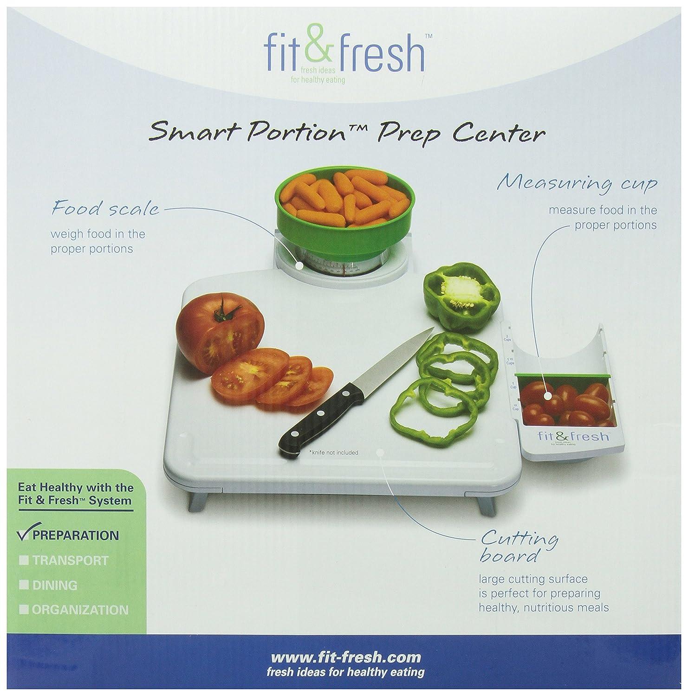 Amazon.com: Fit & Fresh Smart Portion Food Prep Center: Cutting ...