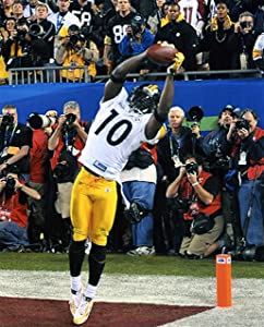 SANTONIO HOLMES PITTSBURGH STEELERS 8X10 SPORTS ACTION PHOTO J