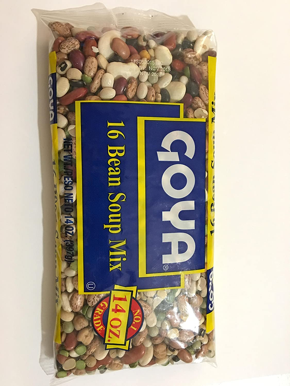 Goya 16 Bean Soup Mix No. 1 Grade, 14 oz, 1 bag