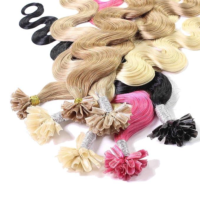 Hair2Heart 50 x 1g Extensiones de Queratina - 60cm - Corrugado, Color 10 Marrón Cenizo: Amazon.es: Belleza