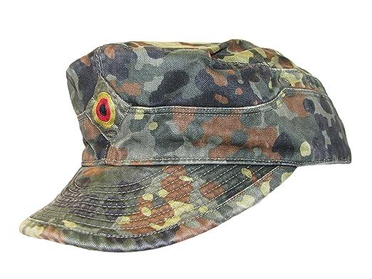 2ee40dfa991d62 German Army Issued Bundeswehr BW Flecktarn Camouflage Field Cap (55cm)