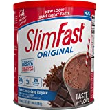 SlimFast Original Rich Chocolate Royale Meal Replacement Shake Mix – Weight Loss Powder – 31.18 Oz Canister – 34…