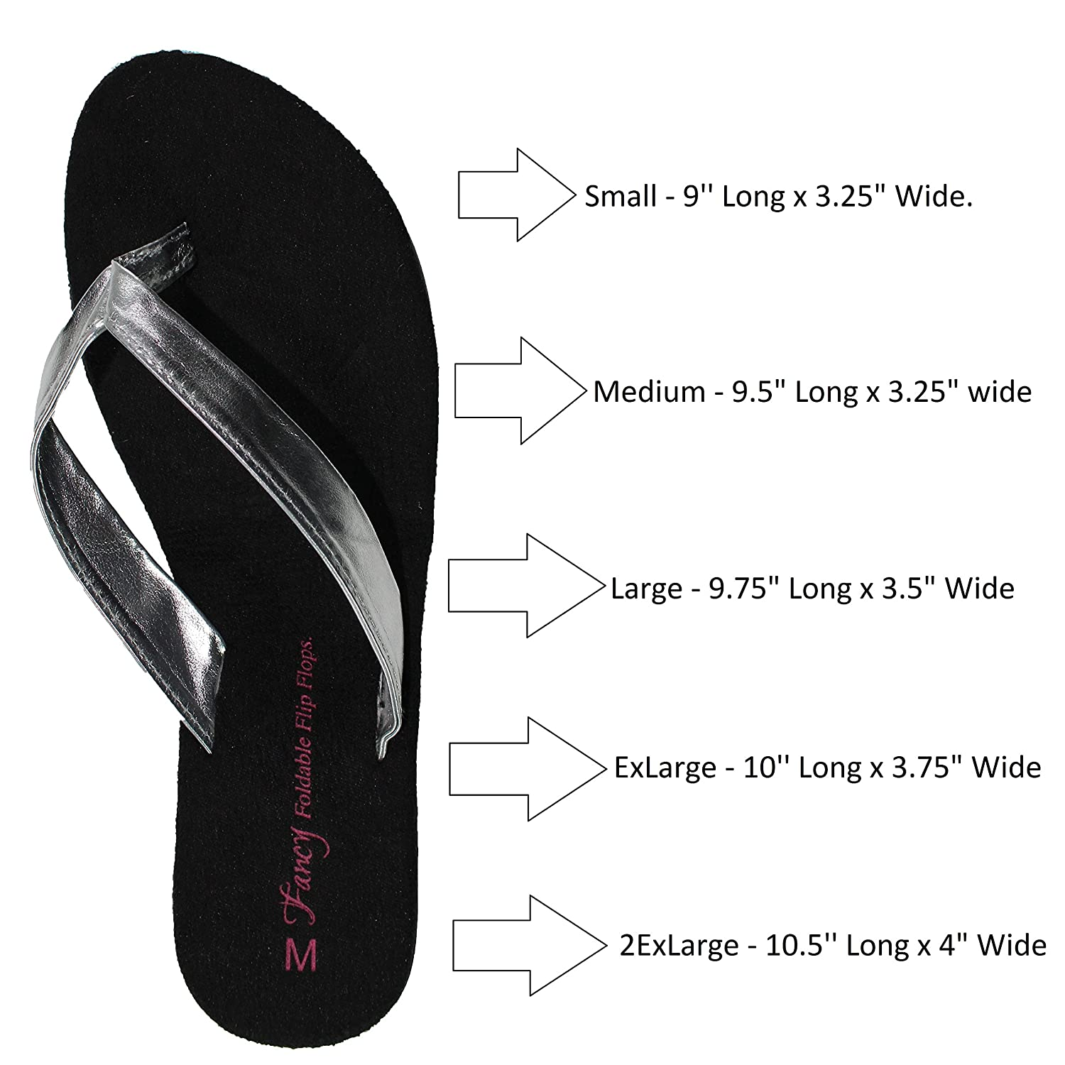 7fdae0f7c95d Flip Flops Sandal Foldable WITH EXPANDABLE TOTE Bag for putting High Heels  in. Womens silver folding fancy shoes PORTABLE Travel SHOE fold up Thongs  Comfort ...