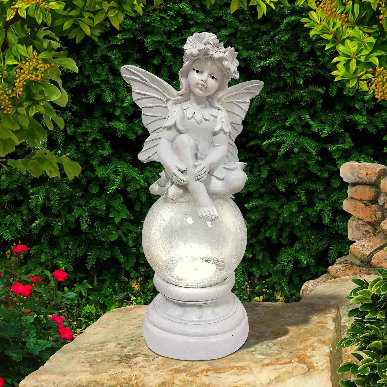 Solar Powered Decorative Garden Ornament Fairy Magic Door Colour Changing