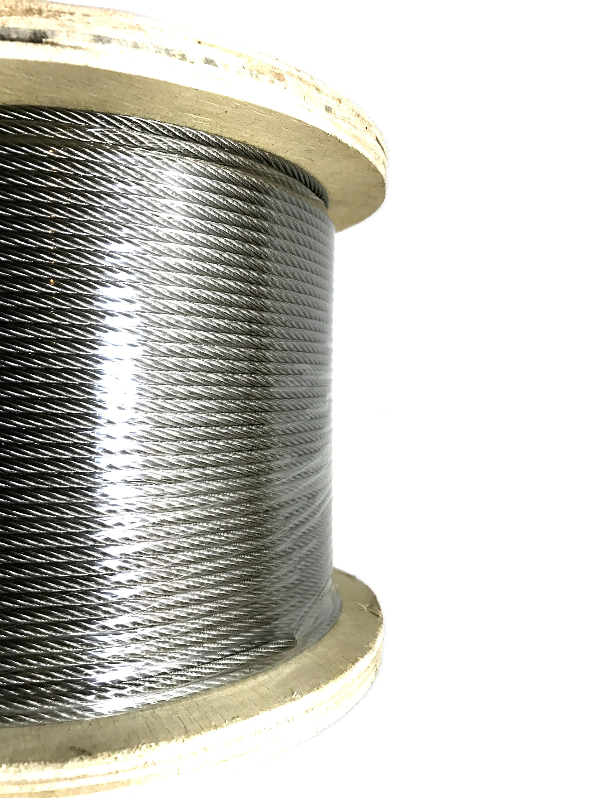 Panorama 1/8in 7x19 Stainless Steel Cable Type 316 Marine Grade 500ft Reel