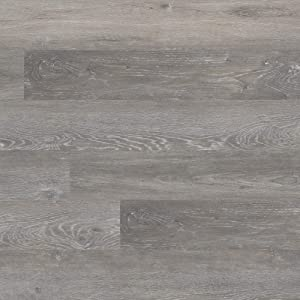M S International AMZ-LVT-0002P Katalina Brushed Oak 6 inch x 48 inch Gluedown Adhesive Luxury Vinyl Plank Flooring for Pro and DIY Installation (70 Cases / 2520 sq. ft. / Pallet), Gray, Square Feet