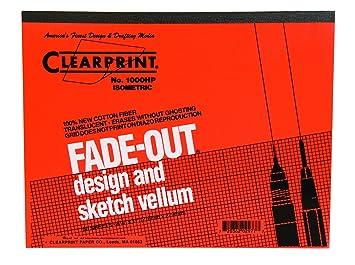 Amazoncom Clearprint 1000h Design Vellum Pad With Printed Fade
