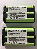 2 x DEEJ Replacement 3.6V 900mAh Ni-MH Cordless Phone Battery for Panasonic HHR-P104