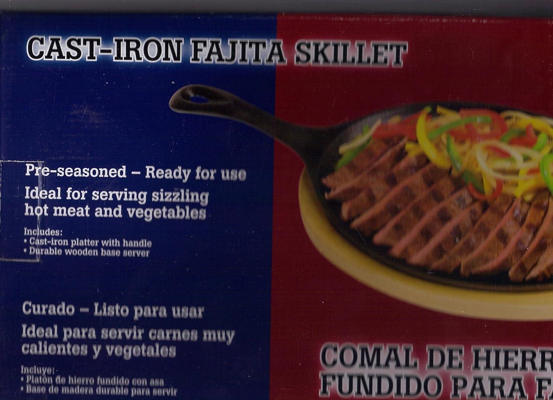 Texas Style Pre-seasoned Fajita Skillet