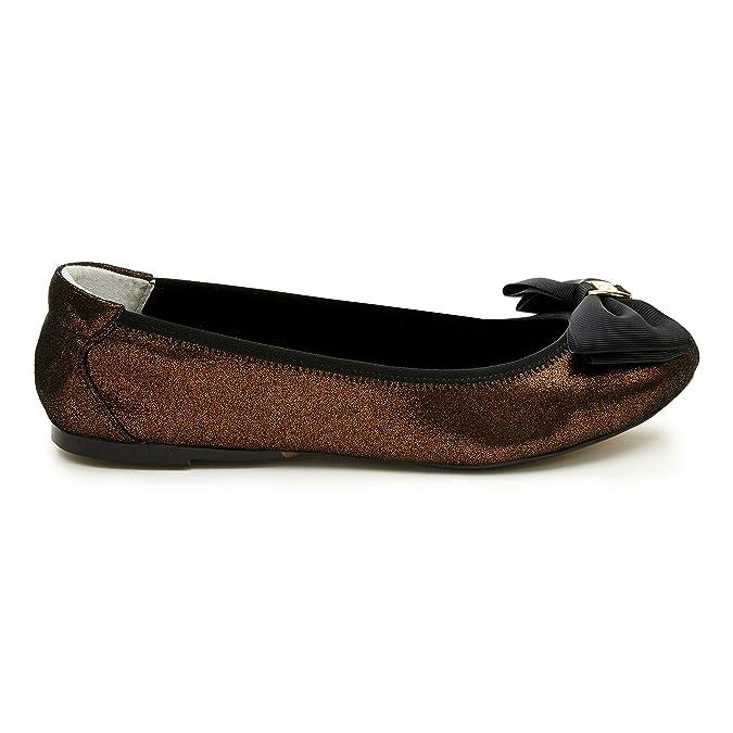 Cocorose Foldable Shoes - Buckingham Ladies Leather Ballet Pumps:  Amazon.co.uk: Shoes & Bags