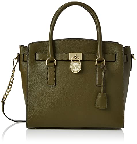 michael kors 30s7ghms7l womens hamilton satchel green olive rh amazon co uk