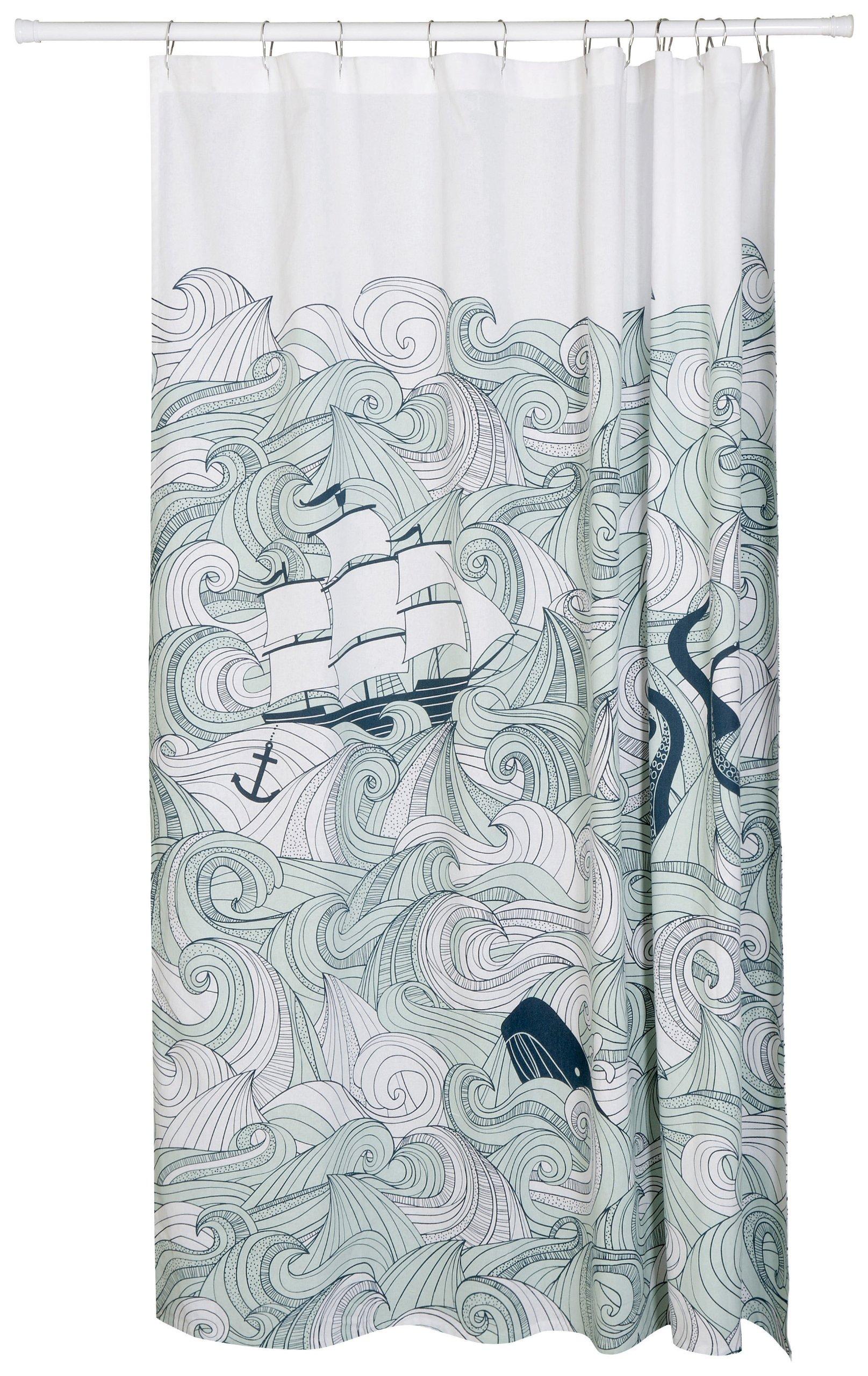 Danica Studio Cotton Shower Curtain, Odyssey Print by Now Designs