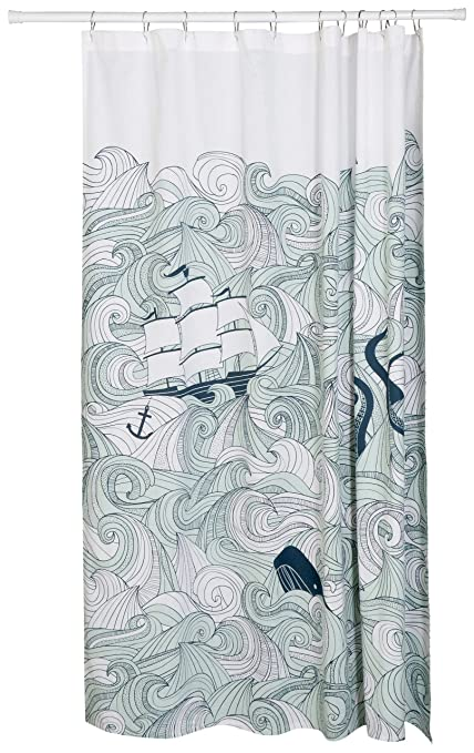 Image Unavailable Not Available For Color Now Designs Danica Studio Cotton Shower Curtain Odyssey Print