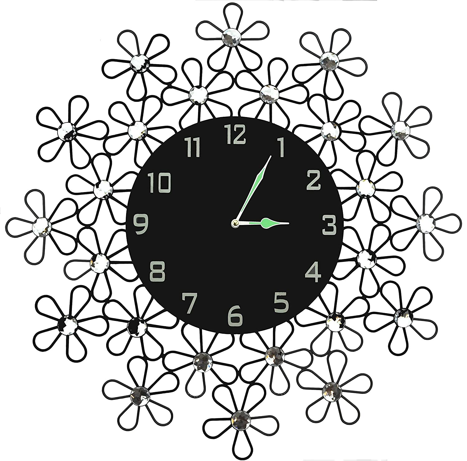 Amazon lulu decor daisy wall clock decorative metal wall amazon lulu decor daisy wall clock decorative metal wall clock black glass dial in arabic numerals clock diameter 2350 modern wall clock amipublicfo Image collections