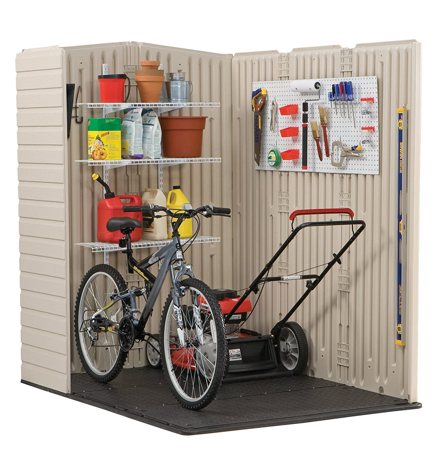 Amazon.com : Rubbermaid Plastic Large Outdoor Storage Shed, 159 cu ...