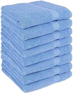 Betz paquete de 8 toallas de lavabo PREMIUM 100% algodón tamaño 50x100 cm de color
