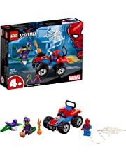LEGO 76133 Super Heroes Spider-Man Car Chase Set, Toy Car Spider-Man and Green Goblin figures, Marvel Toy Vehicles for Kids