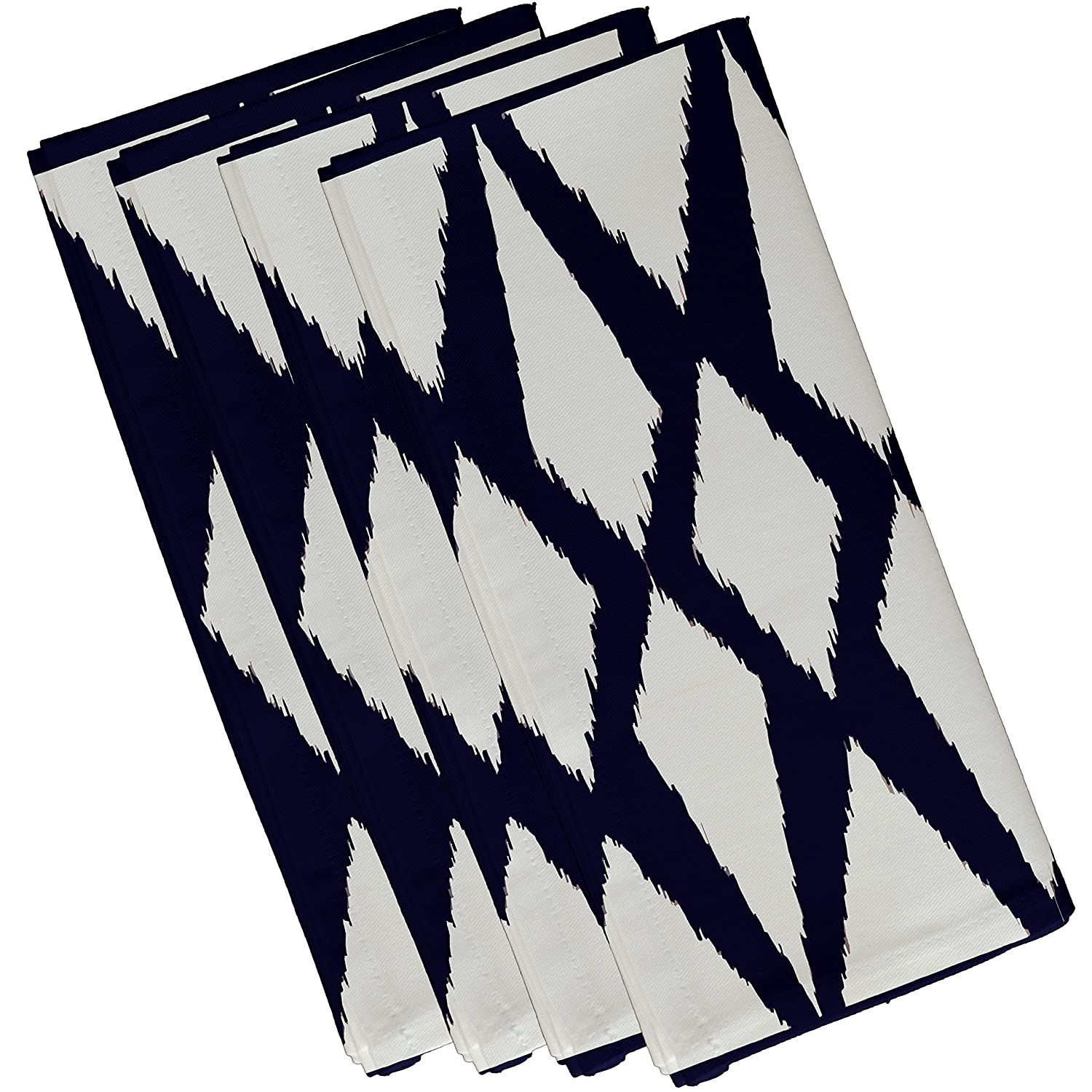 Spring Navy E By Design N4GN32Spring/_Navy-19 Geometric Decorative Napkin 19 by 19