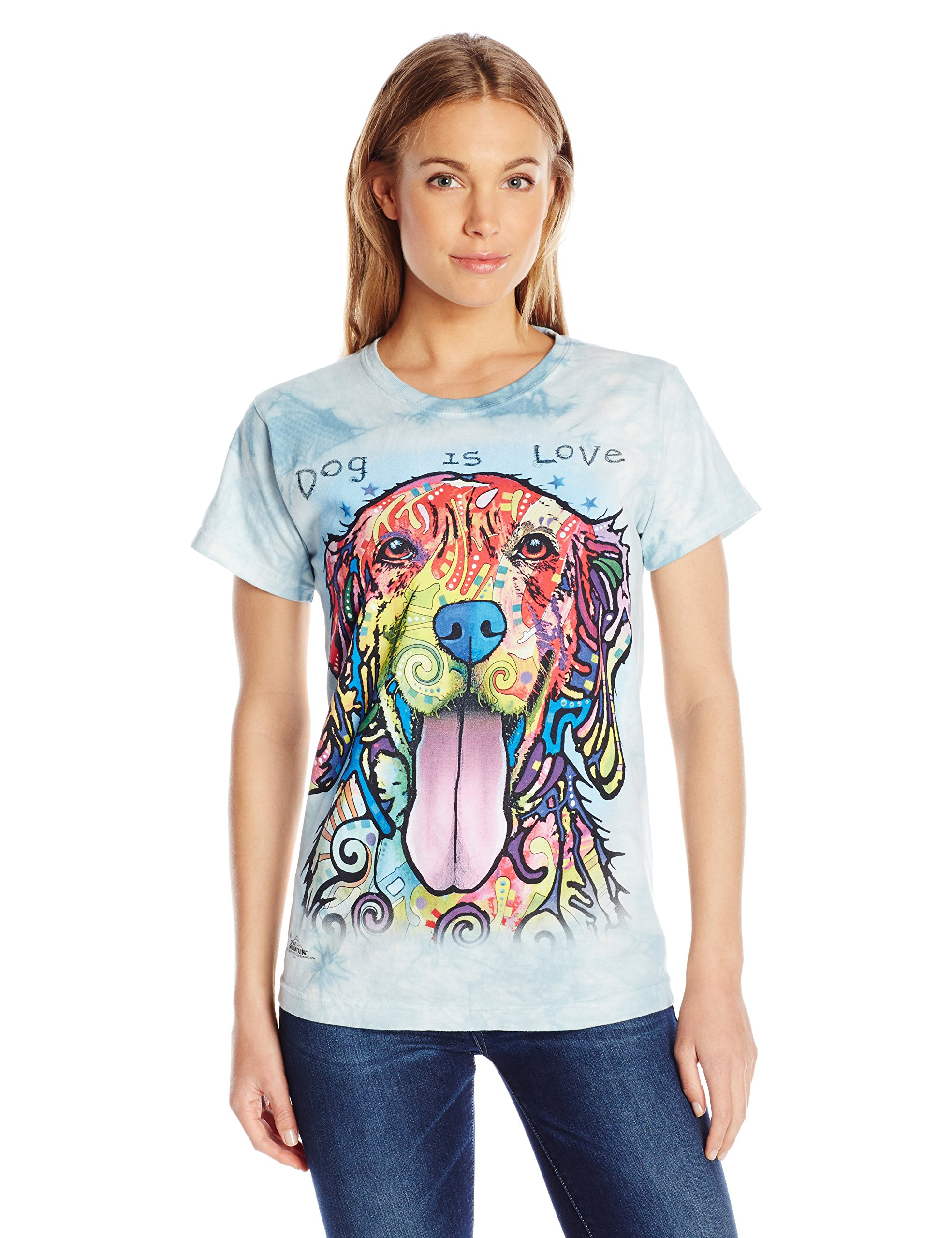 The Mountain Junior's Dog is Love Graphic T-Shirt, Blue, Medium