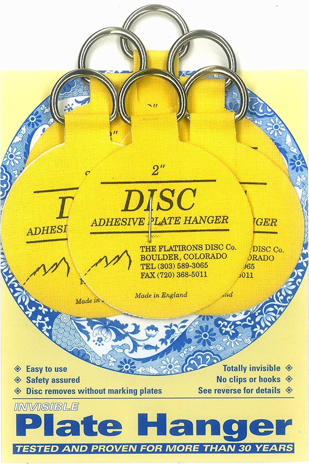 Amazon.com: Flatirons Disc Adhesive Plate Hanger Set (6 - 2 Inch ...
