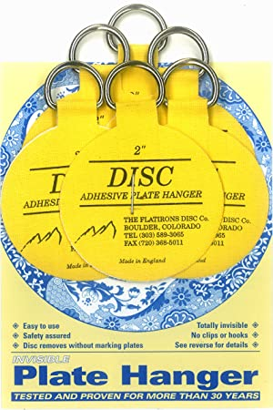Flatiron Disc Adhesive Plate Hanger Set (6 - 2 Inch Hangers) by THE FLATIRONS  sc 1 st  Amazon UK & Flatiron Disc Adhesive Plate Hanger Set (6 - 2 Inch Hangers) by THE ...