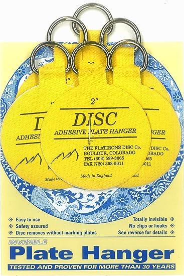 Flatirons Disc Adhesive Plate Hanger Set (6 - 2 Inch Hangers)  sc 1 st  Amazon.com & Amazon.com: Flatirons Disc Adhesive Plate Hanger Set (6 - 2 Inch ...