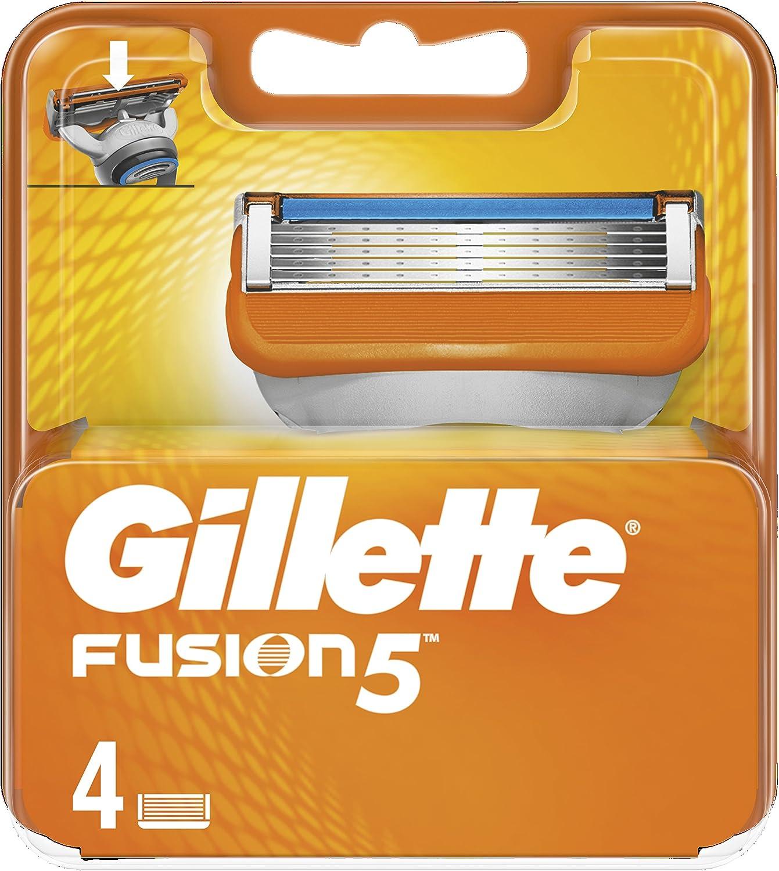 Gillette Fusion5 Maquinilla De Afeitar, 4 Recambios, 5 Hojas Antifricción, Para Un Afeitado Imperceptible