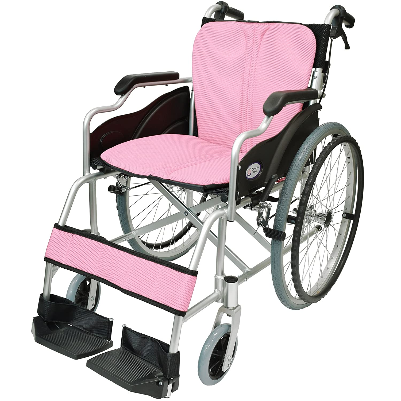 ケアテックジャパン 自走式 アルミ製 折りたたみ 車椅子 ハピネス ピンク CA-10SU B00S0OANO6 07 ピンク(桃色) 07 ピンク(桃色)