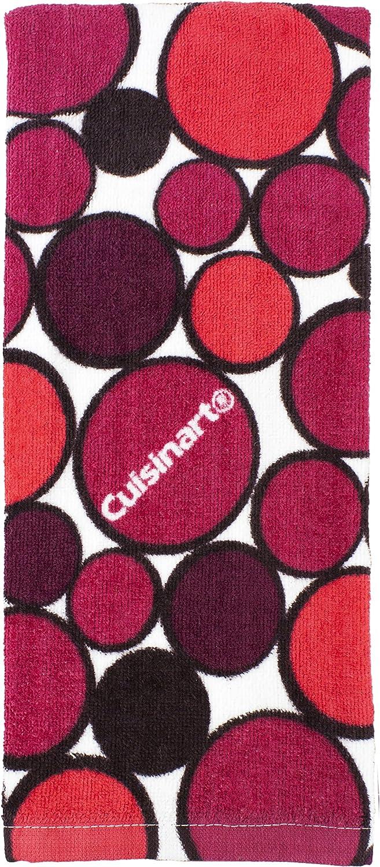 Cuisinart Printed Geometric Kitchen Towel Red