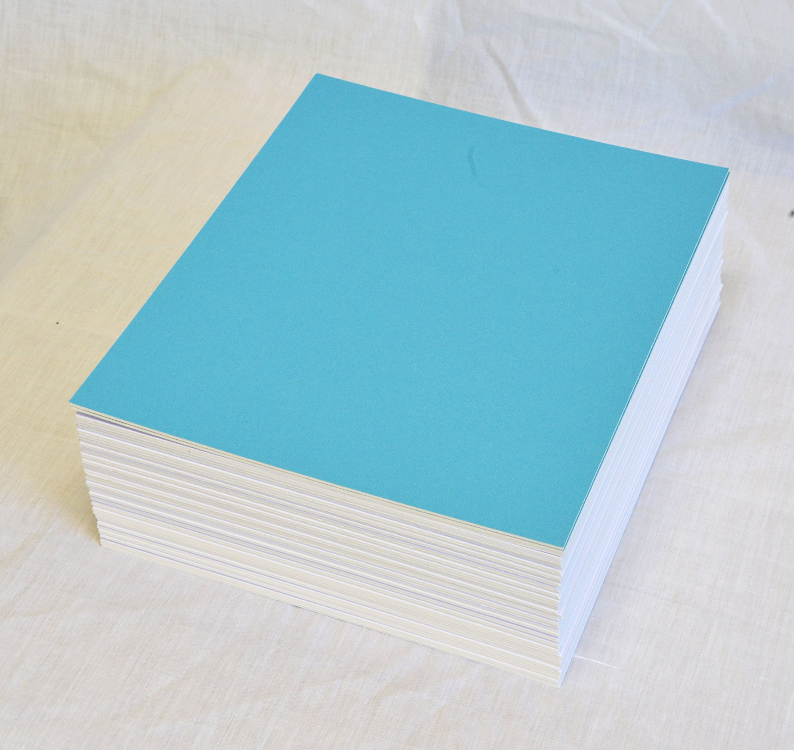 topseller100, Pack of 50 sheets 8x10 UNCUT matboard / mat boards (Light Blue) by Unknown
