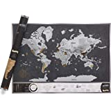 Scratch & Discover Vintage Map - A1 Luxury Scratch Off World Map with Easy to Scratch Foil - An Amazing Gift