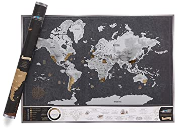 Scratch Discover Vintage Map A1 Luxury Scratch Off World Map