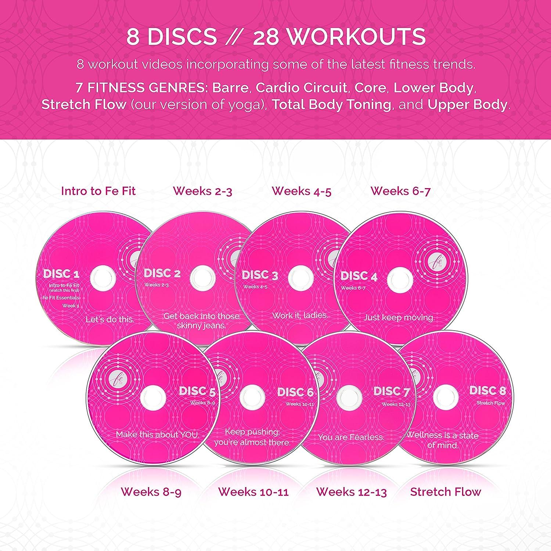 amazon com fé fit women u0027s workout program all skill levels