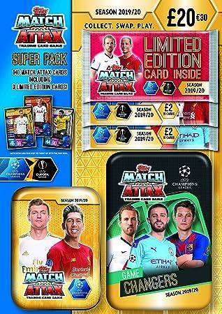 Topps Match Attax Action 2019//2020 Mega Tin Box édition limitée 19//20