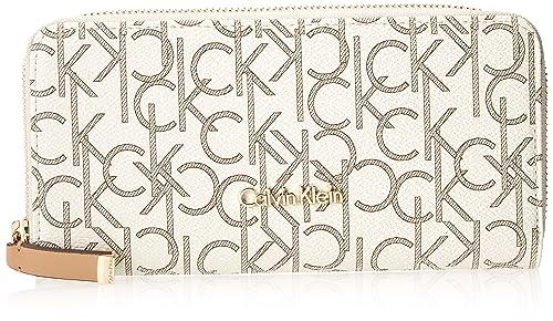 Calvin Klein Monogram Zip Continental Wallet - Cartera para mujer, color almond/khaki/camel, talla única: Amazon.es: Zapatos y complementos