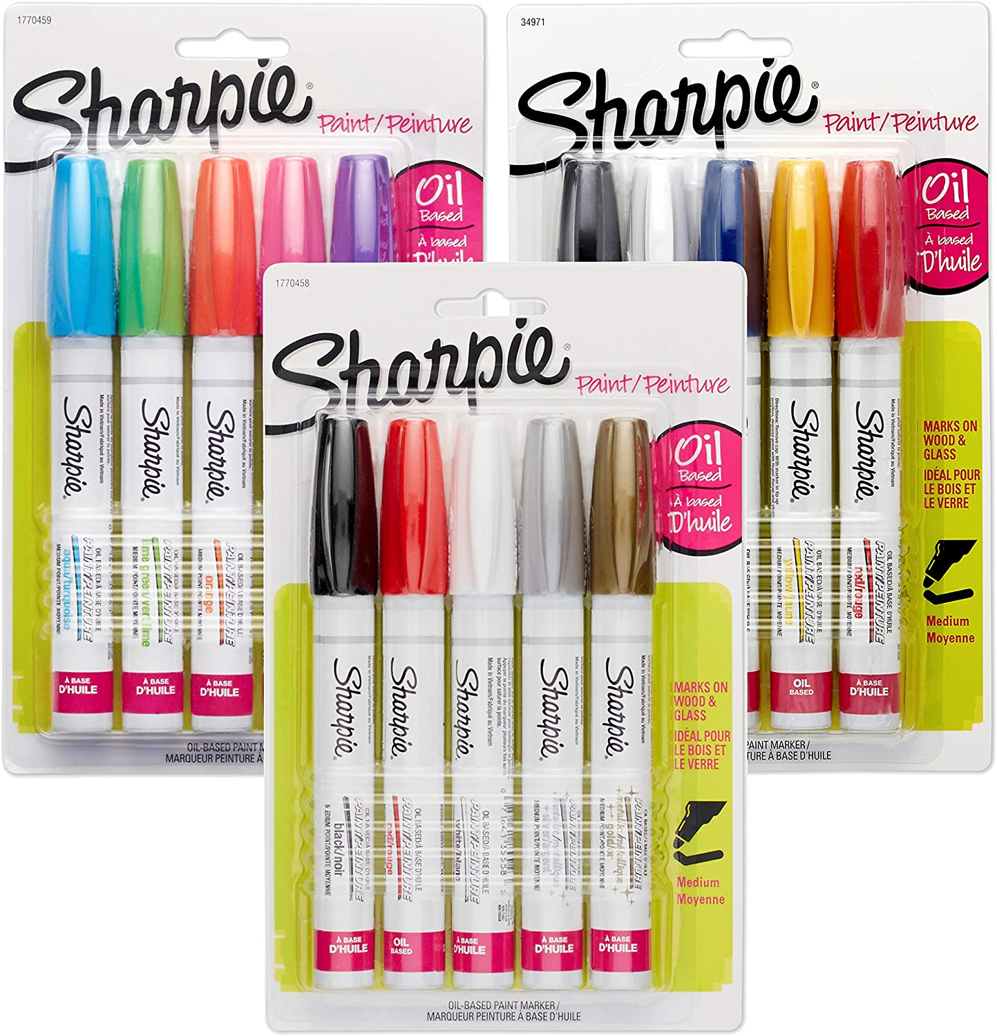 Great for Rock Painting 1 Count Medium Point Sharpie Oil-Based Paint Marker Aqua Blue