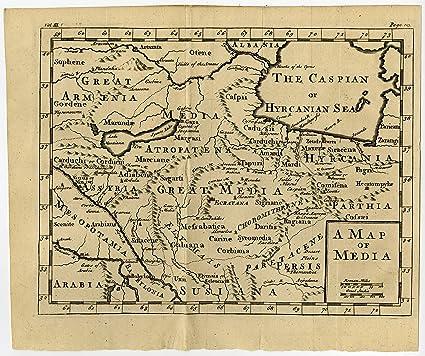 Amazon.com: Antique Map-ANCIENT PERSIA-MEDIA-IRAN-1750: Wall Art