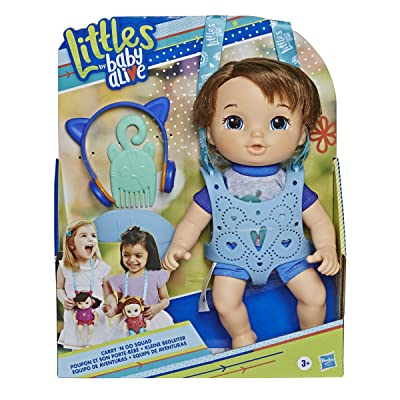 Littles by Baby Alive, Carry 'N Go Squad, Little Matteo Brown Hair Boy Doll, Carrier, Accessories, Toy For Kids Ages 3 years & Up ( Exclusive): Toys & Games