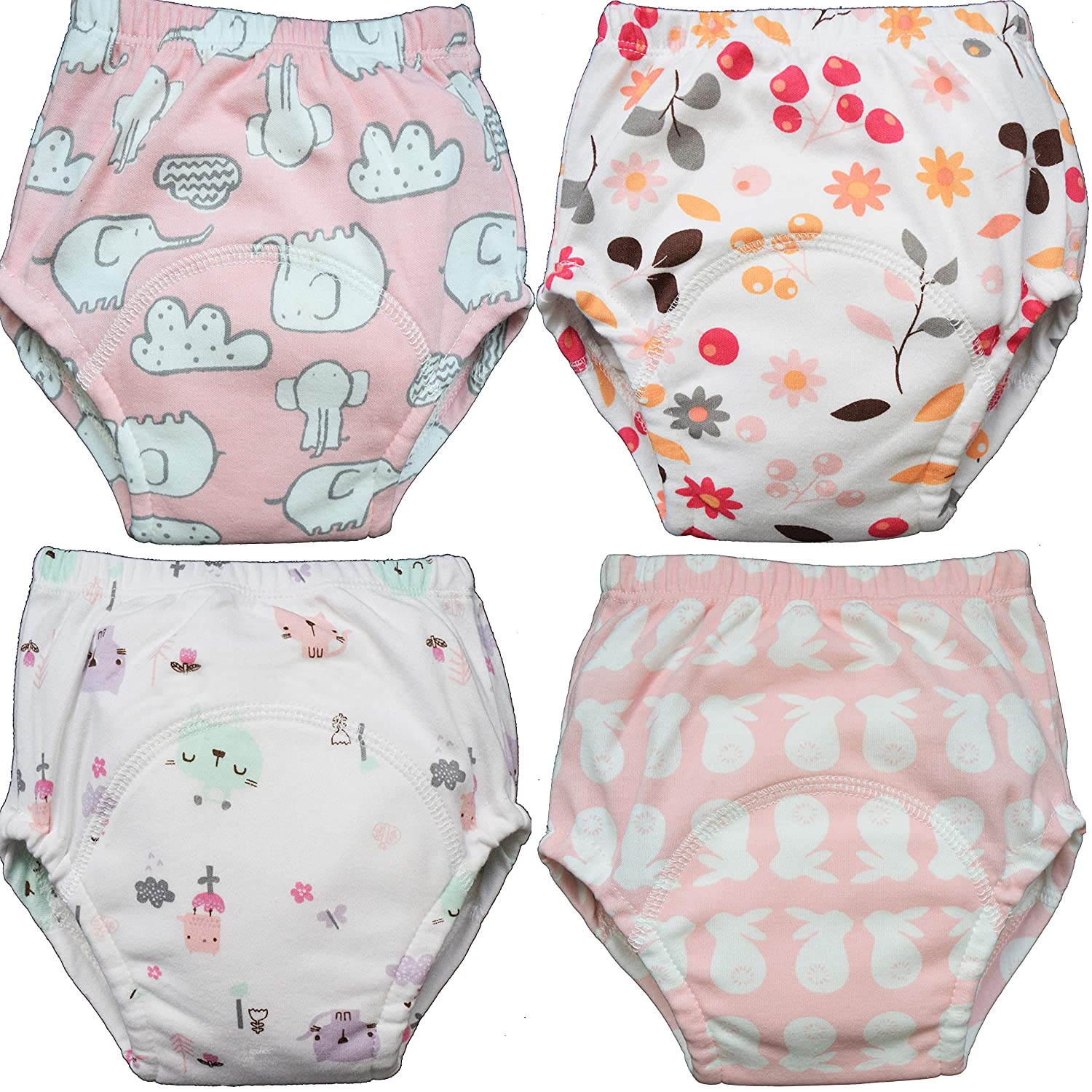 Washable Pants 3 X Absorbent Medium Soft Cotton MOM /& BAB Potty Training Underwear for Toddlers Free Wet Bag Train Faster