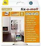 Suki Joint caoutchouc Profil D adhésif pour isolation porte/fenêtre Blanc